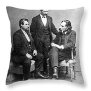 Clemens, Nasby & Shaw Throw Pillow