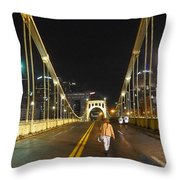 Clemente Bridge Stragglers Throw Pillow
