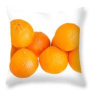 Clementine Oranges Throw Pillow