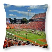 Clemson Tiger Band Memorial Stadium Throw Pillow