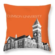 Clemson University - Coral Throw Pillow