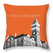 Clemson University - Coral Throw Pillow