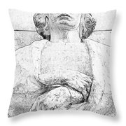 Clenched Hands Throw Pillow