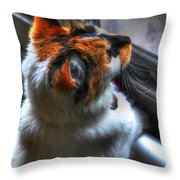 Cleo Bird Watching Throw Pillow