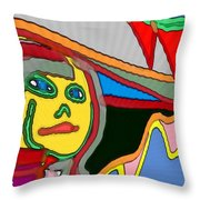 Cleo Waiting Throw Pillow