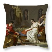 Cleopatra And Octavian Throw Pillow