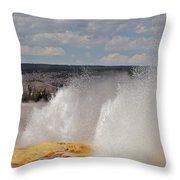 Clepsydra Geyser Throw Pillow