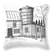 Clermont Barn 1 Throw Pillow