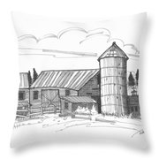 Clermont Barn 2 Throw Pillow