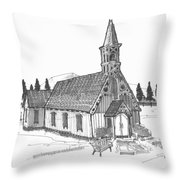 Clermont Chapel Throw Pillow