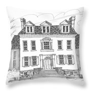 Clermont Historic Site Throw Pillow