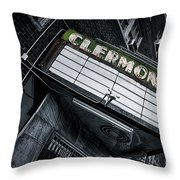 Clermont Hotel Throw Pillow