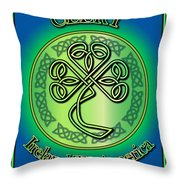 Clery Ireland To America Throw Pillow