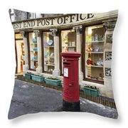 Clevedon West End Post Office Throw Pillow