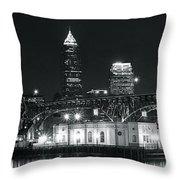 Cleveland Black Night Throw Pillow