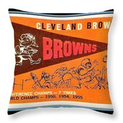 Cleveland Browns 1959 Retro Print Throw Pillow