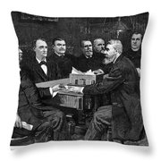Cleveland Cabinet, 1893 Throw Pillow