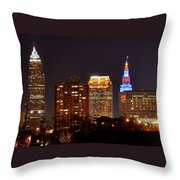 Cleveland Cityscape Throw Pillow