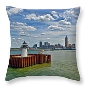 Cleveland Harbor  Throw Pillow