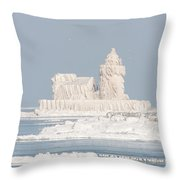 Cleveland Harbor West Pierhead Light II Throw Pillow