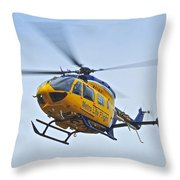 Cleveland Metro Life Flight Throw Pillow