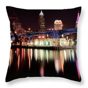 Cleveland Panoramic Reflection Throw Pillow