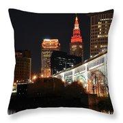 Cleveland Up Close Throw Pillow