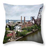Cleveland West Bank Throw Pillow