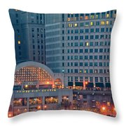 Clevelands Tower City Throw Pillow