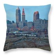 Clevelands Urban Side Throw Pillow