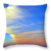 Click #5 From A Rest Stop On The Chesapeake Bay Bridge Tunnel Throw Pillow