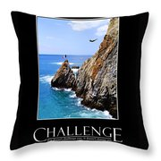 Cliff Divers Of Acapulco Throw Pillow