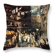 Cliff Dwellers Throw Pillow