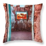 Cliff Dwellers Near Lee's Ferry Throw Pillow