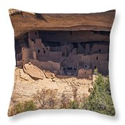 Cliff Dwelling Throw Pillow