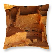 Cliff Dwellings Throw Pillow