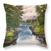 Cliff Falls Throw Pillow