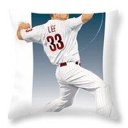 Cliff Lee Throw Pillow