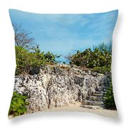Cliff Stairs 2 Throw Pillow