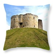 Clifford's Tower York Throw Pillow