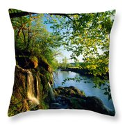 Cliffs And Trees Along Malanaphy Throw Pillow