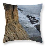 D3a6138-cliffs At Bolinas  Throw Pillow