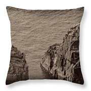 Cliffs At Bonavista Throw Pillow