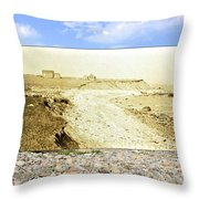 Cliffs At The Town Landing In Little Compton Ri Throw Pillow