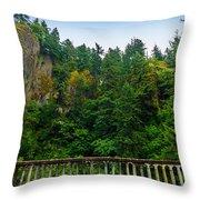 Cliffs High Above Road Throw Pillow