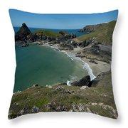 Cliffs In Bretagne Throw Pillow