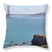 Cliffs Near Golden Gate Bridge Throw Pillow
