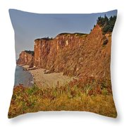 Cliffs Of Cape D'or From A Promontory Over Advocate Bay-ns Throw Pillow