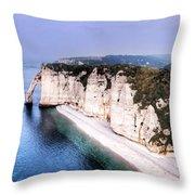 Cliffs Of Etretat 1 Throw Pillow