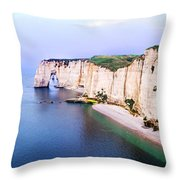 Cliffs Of Etretat 3 Throw Pillow